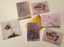 3er Sets Miniklappkarten